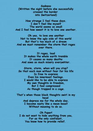 Sadness Poem