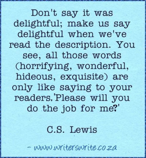 Lewis quote on writing