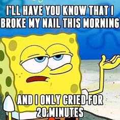 ... longer.  #inm #inmnails #notd #spongebob #lol #tgif #funny #joke