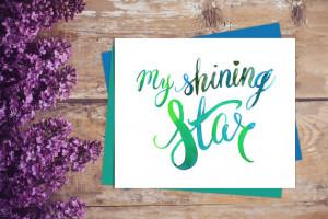 My Shining Star print, My Shining Star Quote Wall art, My Shining Star ...