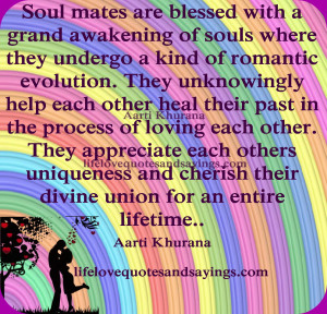 ... past in the process of loving each other. They appreciate each others