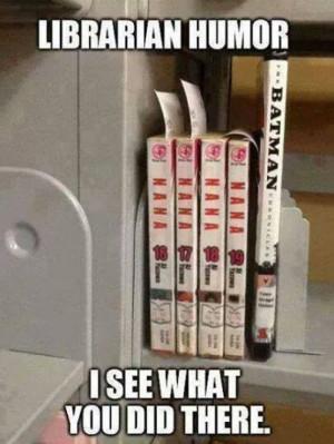 Librarian humor meme