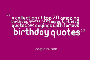 birthday quotes,Best happy birthday quotes and sayings with famous