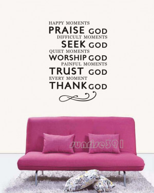 wall-037-small-black-Praise-God-Quote-Wall-Stickers-Art-Decal-Sticker ...