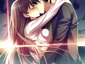 Romantic Anime Kiss, Romantic Anime Kiss wallpaper