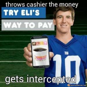 SportsMemes.net > Football Memes > Eli Intercepted