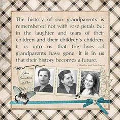 Scrapbook Ideas, Heritage Scrapbook, Creative Genealogy, Families ...