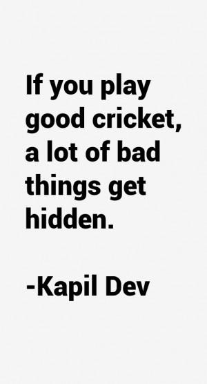 Kapil Dev Quotes & Sayings