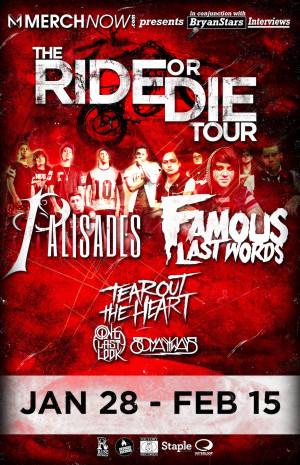 Famous Last Words Announce new tour