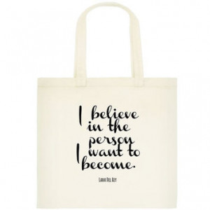 Del Rey Tote Bag - Book Bag - Love Quote - Book Bag - Shopping Bag ...