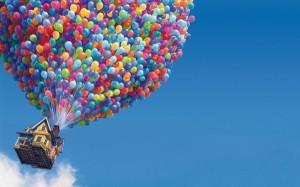 pixar disney company up movie baloons 1440x900 wallpaper