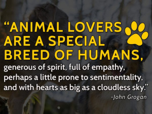 Animal lovers are a special breed of humans, generous of spirit, full ...