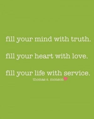 Truth, love, service
