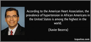 American Heart Association, the prevalence of hypertension in African ...