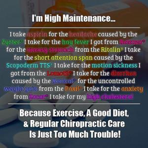 high maintenance...