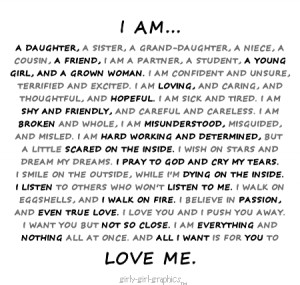 quotes thoughts sayings daughter sister aunt niece grand daughter i am