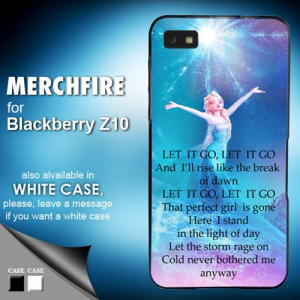 TM 808 elsa frozen quote Blackberry Z10 Case