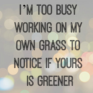 too busy working on my own grass... | Life as an Hourglass | UK ...