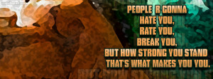 People R Gonna Hate Rate Break You Facebook Cover Layout