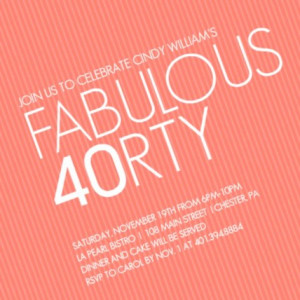 40th birthday invitation by PurpleTrail.