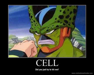funny cell dragon ball z photo 26897757 fanpop