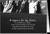 Sister Maid of Honor Request card - Product #388150