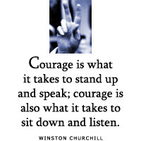 ... takes courage to stand alone child teen vinyl wall decal mural quotes
