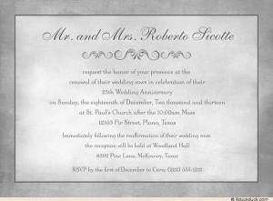 ... wedding quotes 873570 » anniversary-vows-renewal-invitation-silver