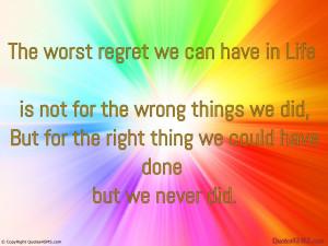 Regrets Quotes