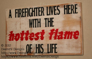 Firefighter Wife Wall Art, Firefighter Decor, Distressed Wall Decor ...