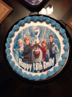 Disney's Frozen Cake From Dairy Queen Dairy Queen