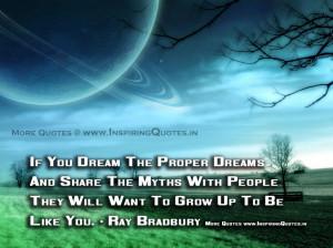Ray Bradbury Quotes   Inspirational Thoughts, Proverbs by Ray Bradbury ...