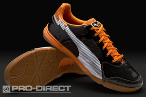 Home \ Puma Evospeed 4 Sala Boots - Blk/Wht/Orange