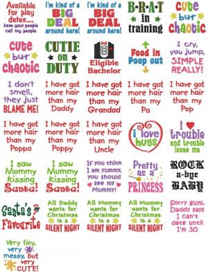 Baby Sayings Set #9