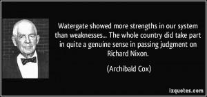 More Archibald Cox Quotes