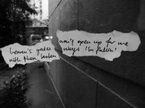 black and white, broken, lyrics, nickelback, quote, rain, text