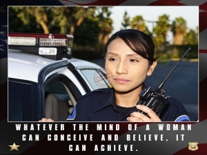 Female Police Officer Motivation Poster (Version 4)