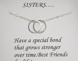 sisters necklace gift for sister linked circles necklace interlocking ...