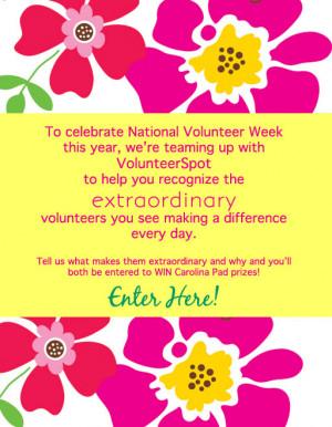 Carolina Pad Volunteer Appreciation Contest