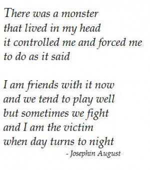 Monster inside me: Monsters Representing, Monsters Inside Me, Head