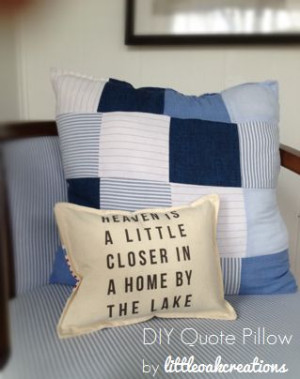 Heaven is a little closer in a home by the lake quote pillow - make ...