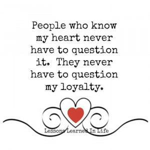 Friendship, loyalty, love