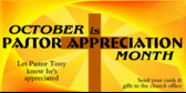 ... Appreciation Month October Pastor Appreciation Month banner sign