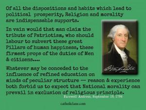 George Washington on Religion and Morality
