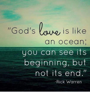 God's love quote by Rick Warren