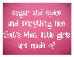 ... girls room vinyl wall quote sugar and spice everything nice Pictures