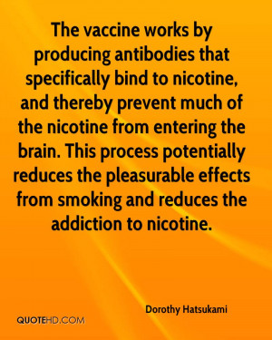 The vaccine works by producing antibodies that specifically bind to ...