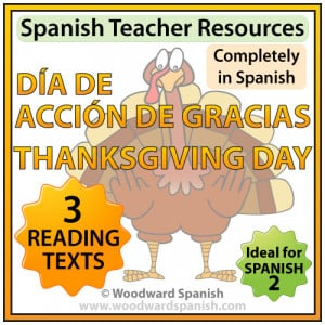 ... about Thanksgiving Day in Spanish with comprehension questions