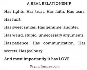 Real Relationship: Quote About Real Relationship ~ Daily Inspiration