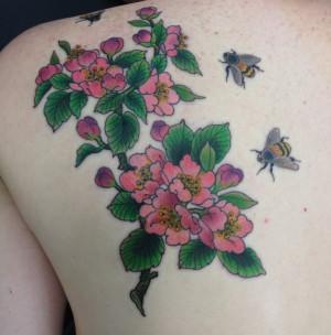 Apple Blossom Tattoo Designs